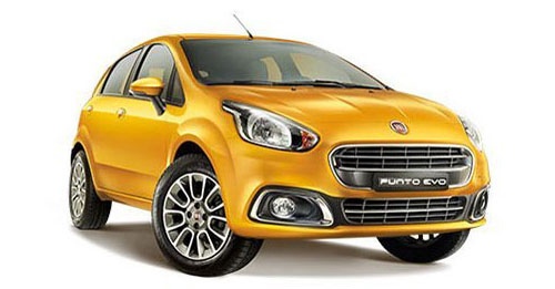 Compare Fiat Punto Evo Kerb Weight with similar cars