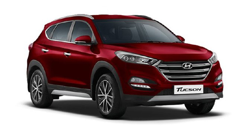 Compare Hyundai Tucson Kerb Weight with similar cars