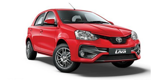 Compare Toyota Etios Liva Kerb Weight with similar cars