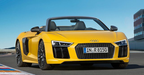 Upcoming Audi R8 Spyder Price - Get Audi R8 Spyder price, specifications, expected launch date and photos of Audi R8 Spyder. Check Audi R8 Spyder On Road Price, Audi R8 Spyder city price, Audi R8 Spyder highway price, Audi R8 Spyder Expected Price, Audi R8 Spyder in India & Get full Audi R8 Spyder Price details at autoX