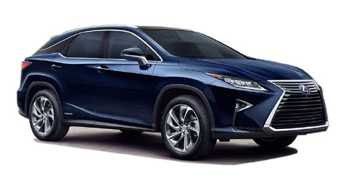 Compare Lexus RX Kerb Weight with similar cars