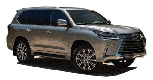 Compare Lexus LX Kerb Weight with similar cars