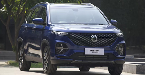 MG Hector Plus Model Image